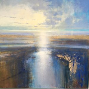 Afternoon light on the Estuary 100×100 cm framed POA