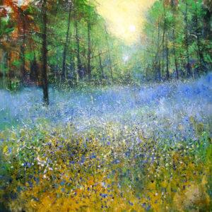 Springtime in Belfairs Woods   acrylic on canvas 87x87cm framed £POA
