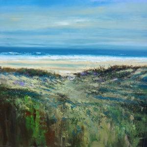 High Tide acrylic on canvas 100x100cm framed £POA