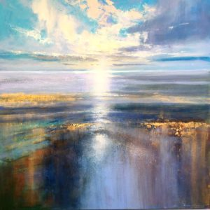 Morning light in the Estuary 100x100cm framed POA