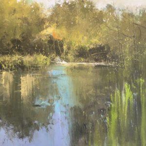Still reflections acrylic on canvas 40x40cm POA