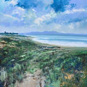 Walk in the surf  acrylic on canvas 100x100cm framed £POA