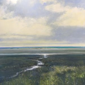 A walk at low tide  acrylic on canvas 80x80cm  £POA