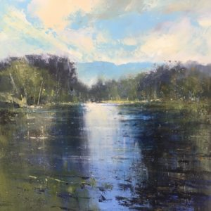 """River Usk Reflections"" 60x60cm acrylic on canvas £POA"